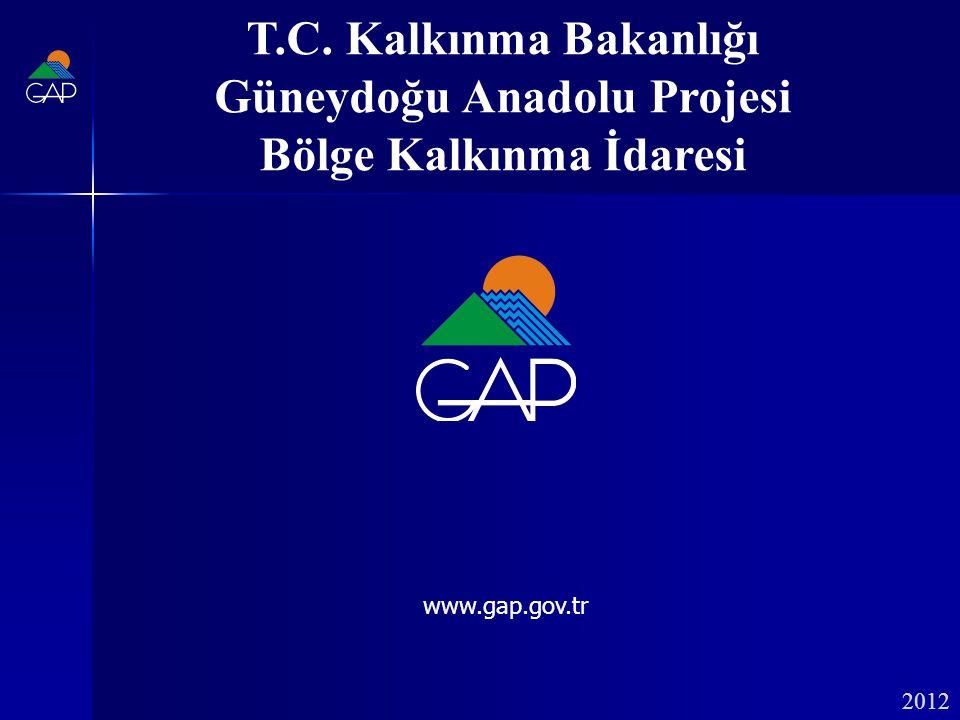 2012 T.C. Kalkınma Bakanlığı Güneydoğu Anadolu Projesi Bölge Kalkınma İdaresi www.gap.gov.tr