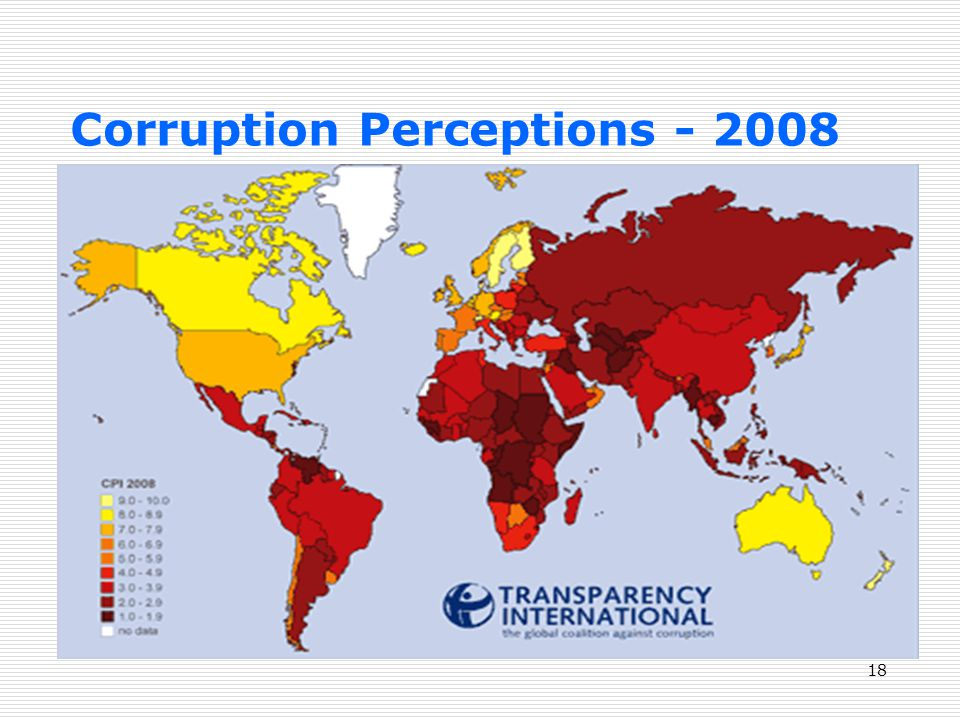 18 Corruption Perceptions - 2008