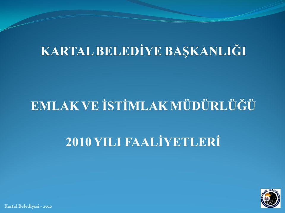 KARTAL BELEDİYE BAŞKANLIĞI EMLAK VE İSTİMLAK MÜDÜRLÜĞÜ 2010 YILI FAALİYETLERİ Kartal Belediyesi - 2010