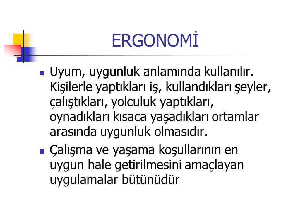Ergonomi, insanın doğduğu andan itibaren bütün hayatı boyunca öğrenip, uyguladığı bir yaşam biçimi, bir yaşam felsefesidir.