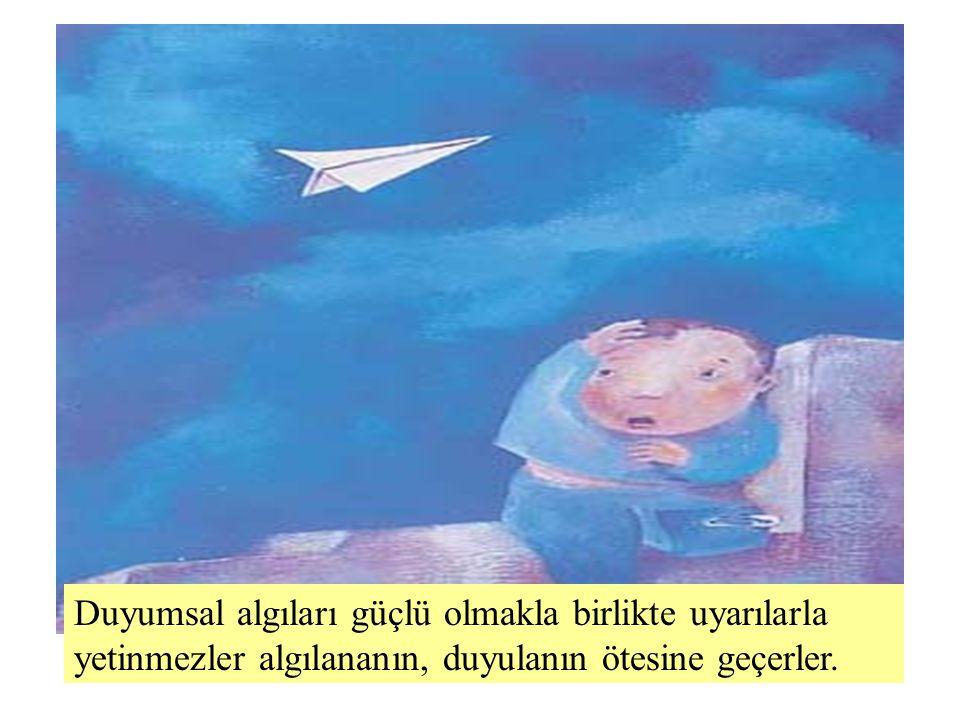 Ali Baykal Yaratıcılık Eğitimi Duyumsal algıları güçlü olmakla birlikte uyarılarla yetinmezler algılananın, duyulanın ötesine geçerler.