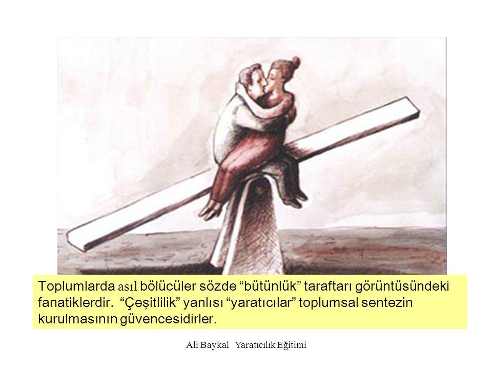 Ali Baykal Yaratıcılık Eğitimi Bireysel açıdan da yaratıcılık bir insanlık hakkıdır.