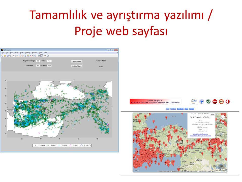 Tamamlılık ve ayrıştırma yazılımı / Proje web sayfası