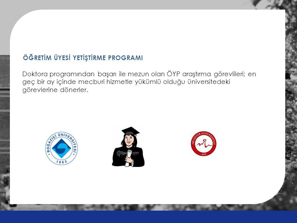 Doktora programından başarı ile mezun olan ÖYP araştırma görevlileri; en geç bir ay içinde mecburi hizmetle yükümlü olduğu üniversitedeki görevlerine dönerler.