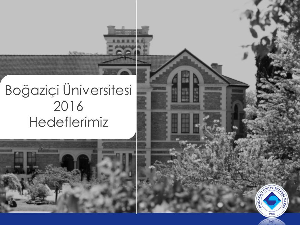 Boğaziçi Üniversitesi 2016 Hedeflerimiz