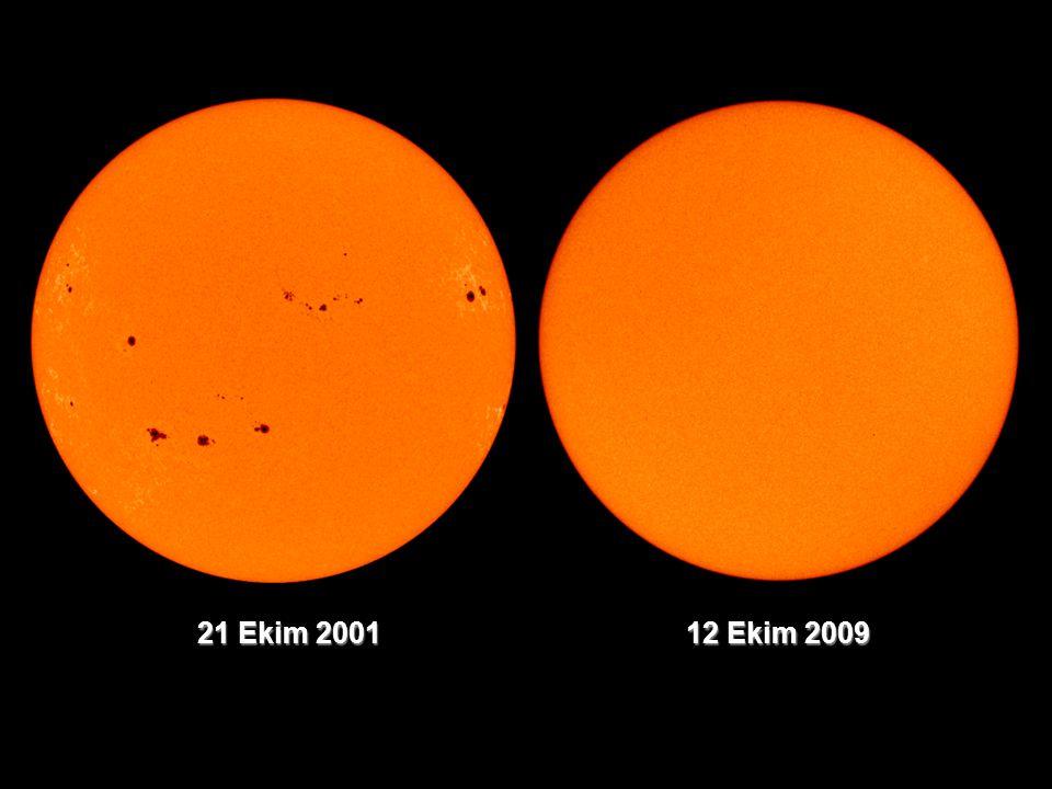 GÜNEŞ LEKESİ ÇEVRİMLERİ Güneş lekesi gözlemi yapan bütün istasyonlar Zurich gözlemevinden İsviçreli gökbilimci Rudolf Wolf'un (1816-1893) bulduğu formülle günlük leke sayısını hesaplar (=10g+s).