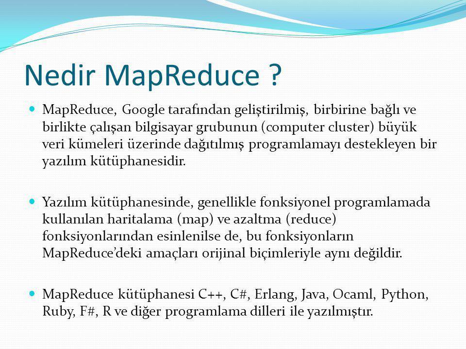 Nedir MapReduce .