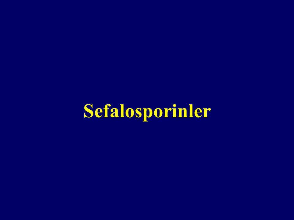 Kimyasal yapıları 7- ASA= 7- Amino Sefalosporinik Asid (  Laktam + Dihidrotiazin halkaları) » Cephalosporium acremonium