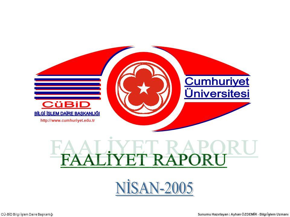 CÜ-BİD Bilgi İşlem Daire Başkanlığı -11- DİĞER HİZMETLER 3.