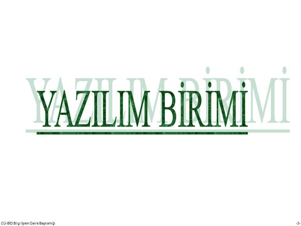 CÜ-BİD Bilgi İşlem Daire Başkanlığı -14- 1.Bilgisayar, Yazıcı ve Monitör Tamiri 2.