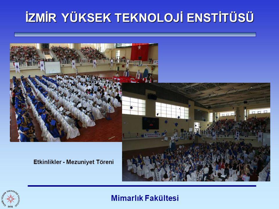 İZMİR YÜKSEK TEKNOLOJİ ENSTİTÜSÜ Mimarlık Fakültesi Etkinlikler - Mezuniyet Töreni