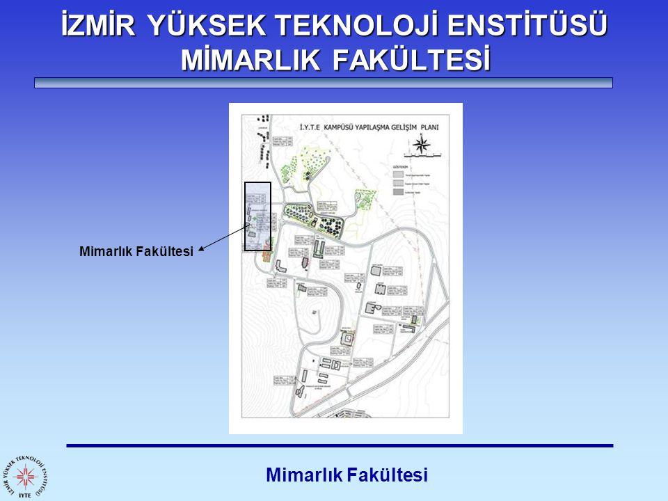 İZMİR YÜKSEK TEKNOLOJİ ENSTİTÜSÜ MİMARLIK FAKÜLTESİ Mimarlık Fakültesi