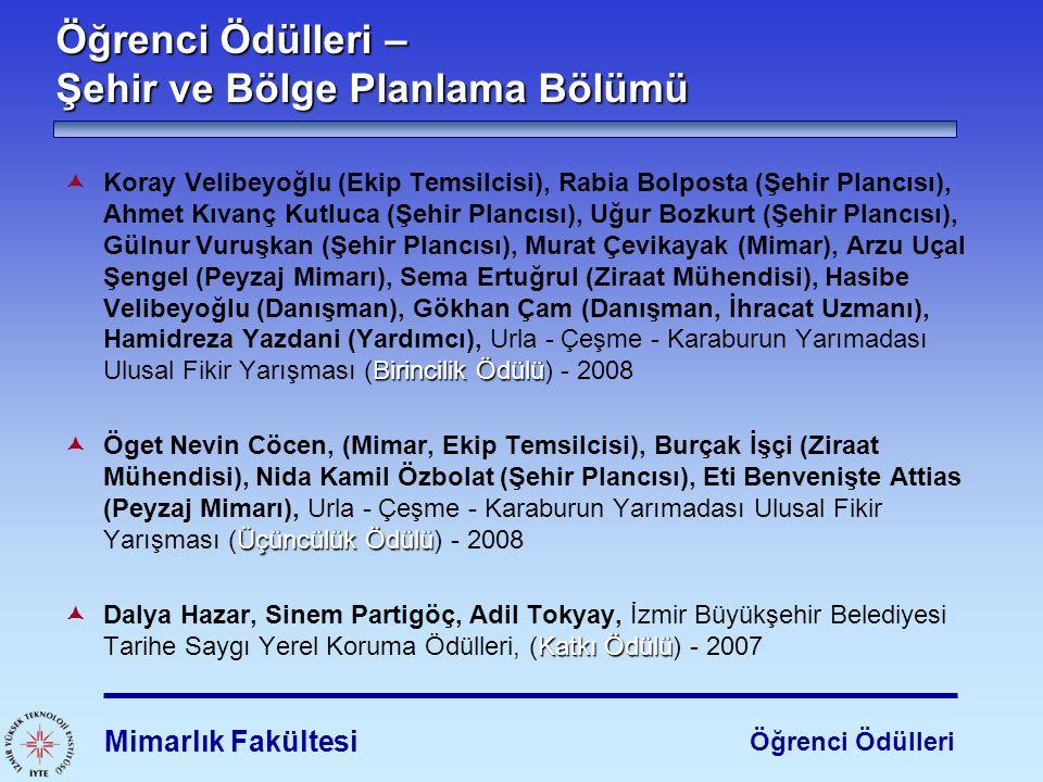 Birincilik Ödülü  Koray Velibeyoğlu (Ekip Temsilcisi), Rabia Bolposta (Şehir Plancısı), Ahmet Kıvanç Kutluca (Şehir Plancısı), Uğur Bozkurt (Şehir Pl