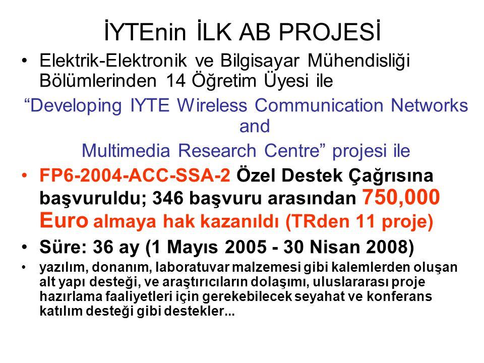 """İYTEnin İLK AB PROJESİ Elektrik-Elektronik ve Bilgisayar Mühendisliği Bölümlerinden 14 Öğretim Üyesi ile """"Developing IYTE Wireless Communication Netwo"""