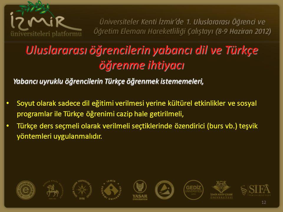 Yabancı uyruklu öğrencilerin Türkçe öğrenmek istememeleri, Soyut olarak sadece dil eğitimi verilmesi yerine kültürel etkinlikler ve sosyal programlar