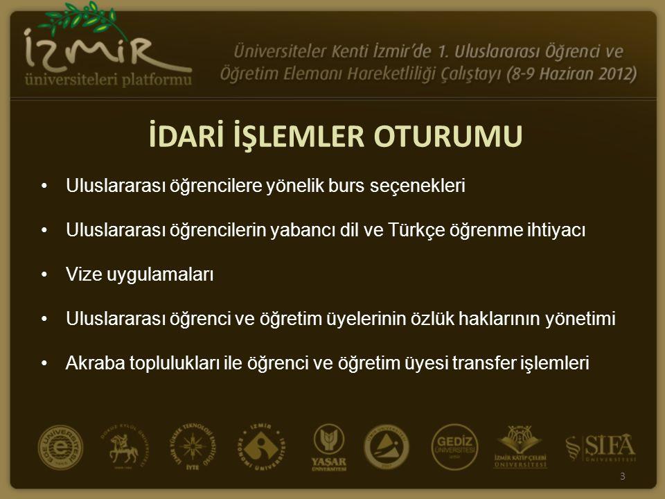 Uluslararası öğrencilere yönelik burs seçenekleri Uluslararası öğrencilerin yabancı dil ve Türkçe öğrenme ihtiyacı Vize uygulamaları Uluslararası öğre
