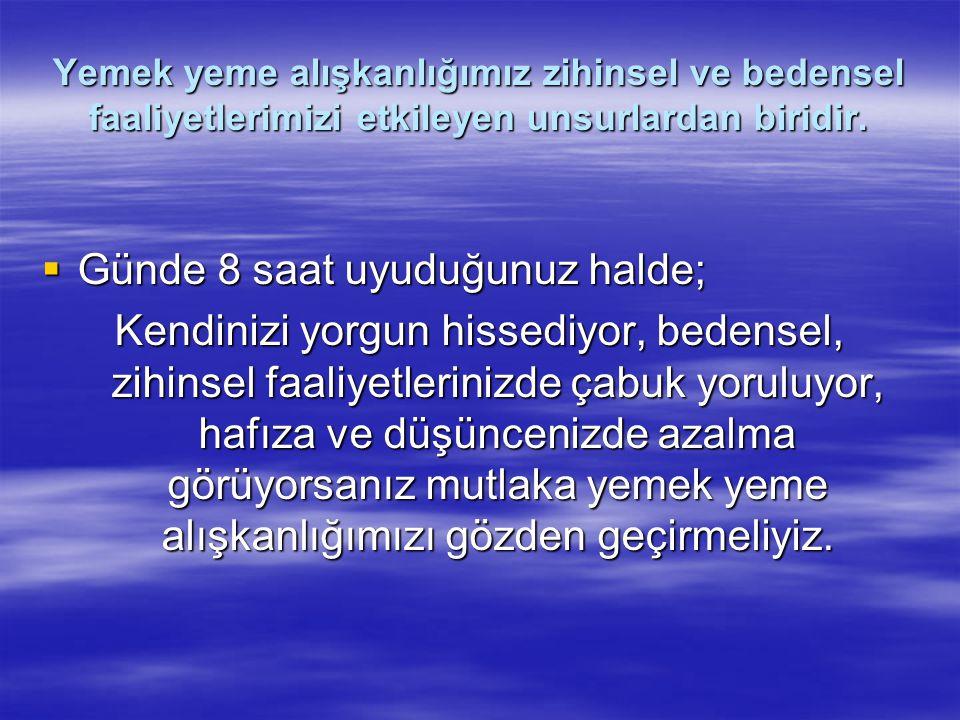 GIDA GRUPLARI VE GIDALARIN BESİN DEĞERLERİ  Grup I.