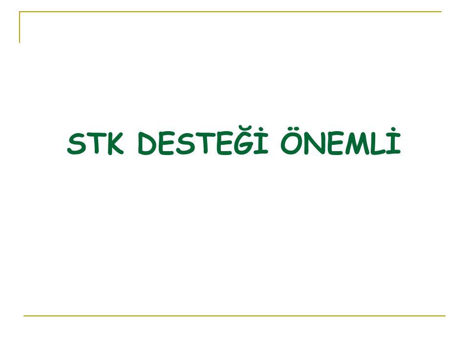 STK DESTEĞİ ÖNEMLİ