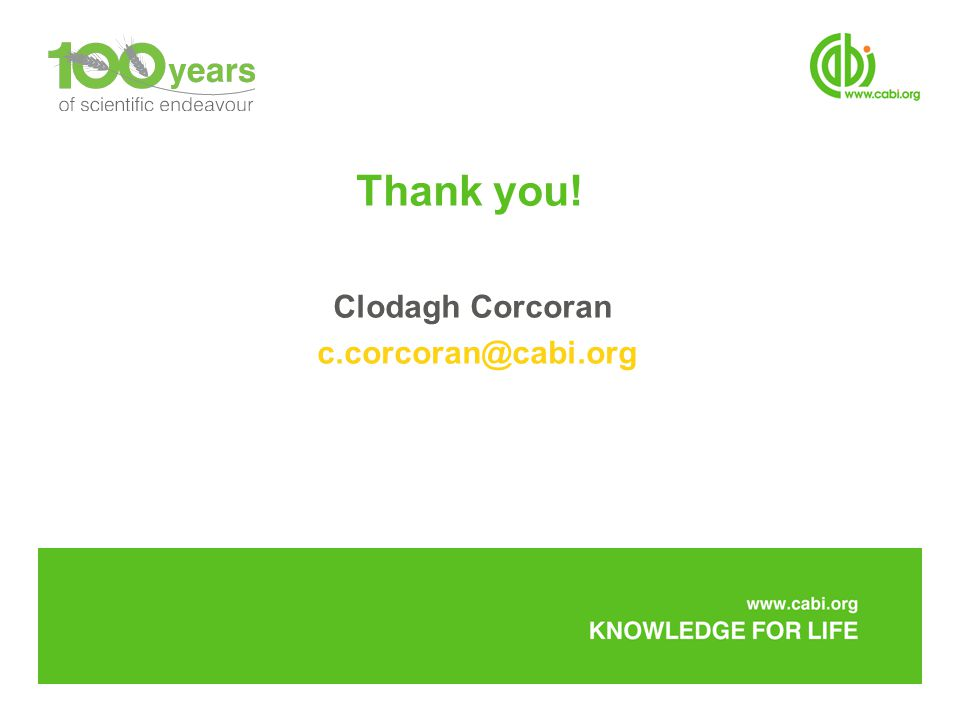 Thank you! Clodagh Corcoran
