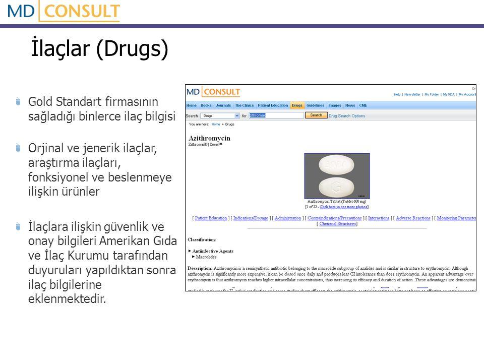 İlaçlar (Drugs) Gold Standart firmasının sağladığı binlerce ilaç bilgisi Orjinal ve jenerik ilaçlar, araştırma ilaçları, fonksiyonel ve beslenmeye ili