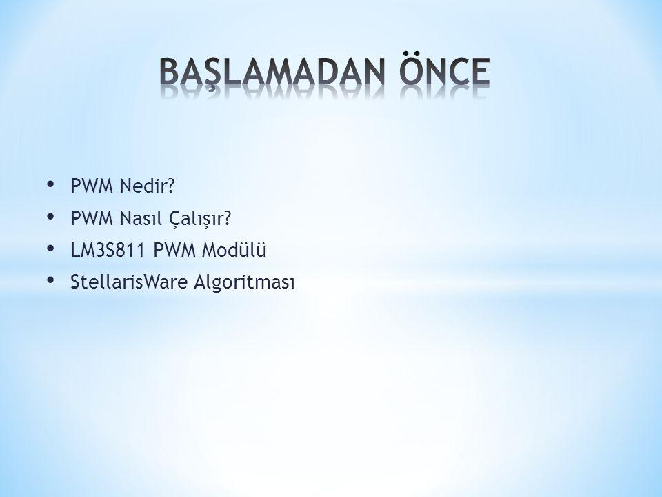 PWM Nedir.PWM(Pulse Width Modulation) darbe genişlik modülasyonu olarak Türkçeye çevrilebilir.