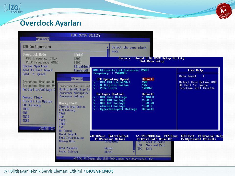 A+ Bilgisayar Teknik Servis Elemanı Eğitimi / BIOS ve CMOS Overclock Ayarları