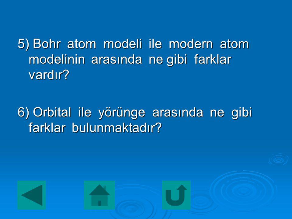 4) Atomun yapısında büyük boşluklar olduğunu ilk kez hangi atom modeli öne sürmüştür? a) Dalton c) Rutherford a) Dalton c) Rutherforda) Daltonc) Ruthe