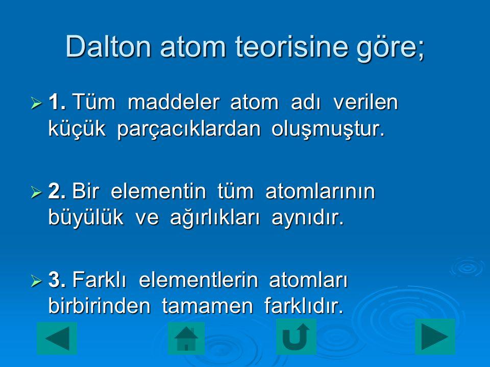 Dalton atom modeli  Atomu ve atomun yapısını bilimsel anlamda ilk inceleyen kişi İngiliz kimyacı John Dalton'dur. John Dalton'un ortaya attığı atom t