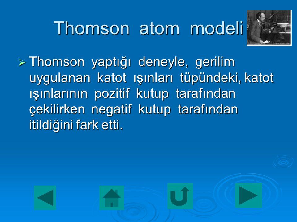  4. Atomlar parçalanamaz ve yeniden oluşturulamaz.  5. Kimyasal tepkimelerde atomlar korunur.  6. Atomlar içi dolu küre şeklindedir.  Şekil için t