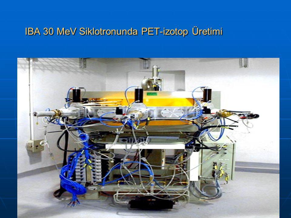 IBA 30 MeV Siklotronunda PET-izotop Üretimi