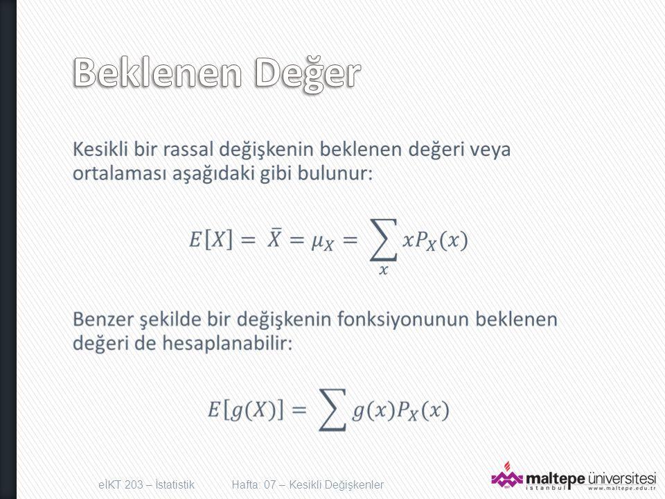 x Value P(x) xP(x) 0 0,2 0,0 1 0,3 0,3 2 0,4 0,8 3 0,1 0,3 E[X] = 1,6