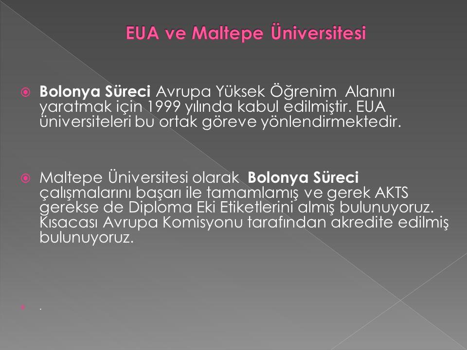  Bolonya Süreci Avrupa Yüksek Öğrenim Alanını yaratmak için 1999 yılında kabul edilmiştir.