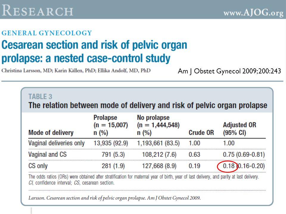 Epizyotomi, vakum uygulaması ve ikinci dereceden yırtıklar, POP riskini spontan vajinal do ğ umla karşılaştırıldı ğ ında arttırmamaktadır.