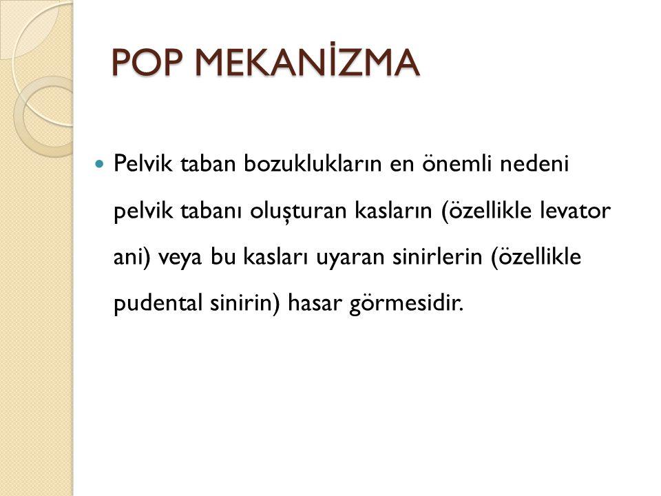 POP ve UI vs SEZARYEN POP ve inkontinanstan korunmak açısından sezaryen yapılması ile ilgili yeterli kanıt bulunmamaktadır.