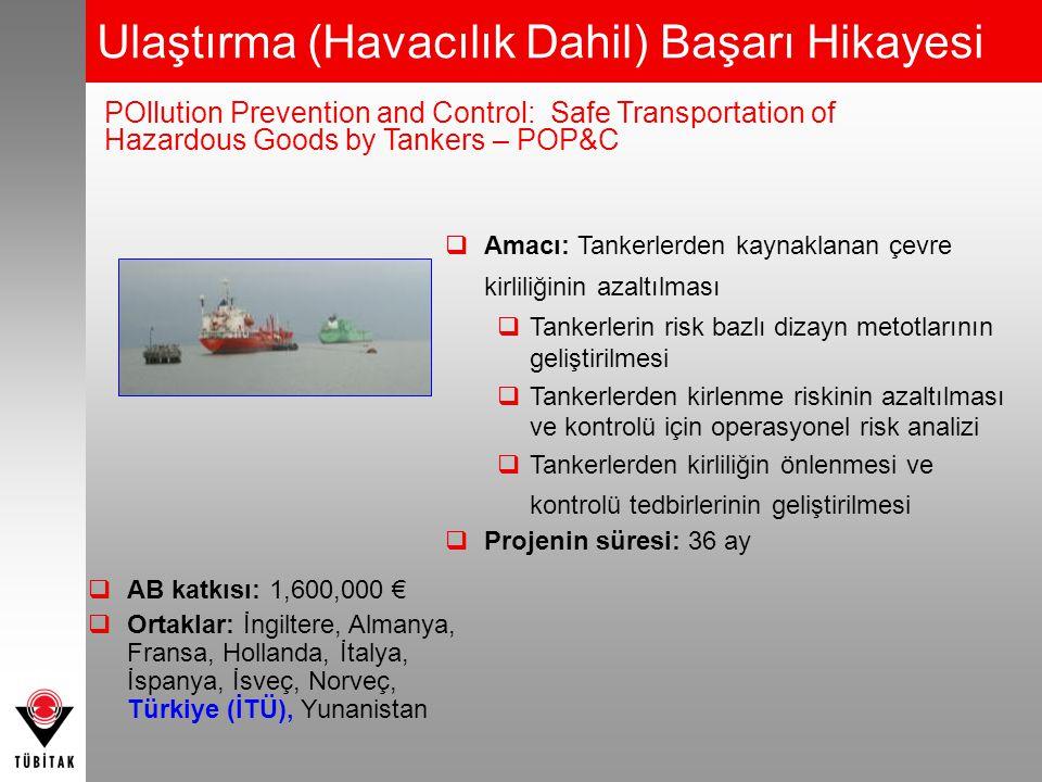  Amacı: Tankerlerden kaynaklanan çevre kirliliğinin azaltılması  Tankerlerin risk bazlı dizayn metotlarının geliştirilmesi  Tankerlerden kirlenme r