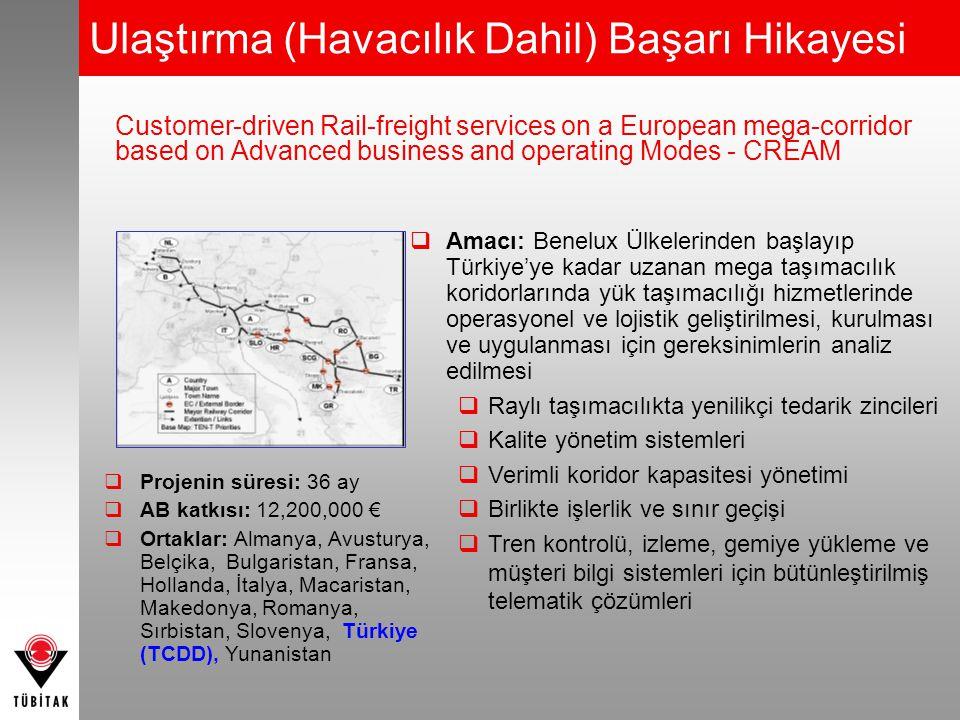  Amacı: Benelux Ülkelerinden başlayıp Türkiye'ye kadar uzanan mega taşımacılık koridorlarında yük taşımacılığı hizmetlerinde operasyonel ve lojistik