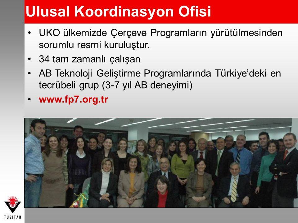 UKO ülkemizde Çerçeve Programların yürütülmesinden sorumlu resmi kuruluştur. 34 tam zamanlı çalışan AB Teknoloji Geliştirme Programlarında Türkiye'dek