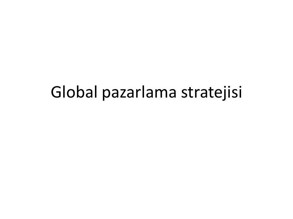 Global Pazar bölümlendirme Ulusal ülke pazarlarında ortak karakteristikleri paylaşan tüketiciler grubu esas alınır.