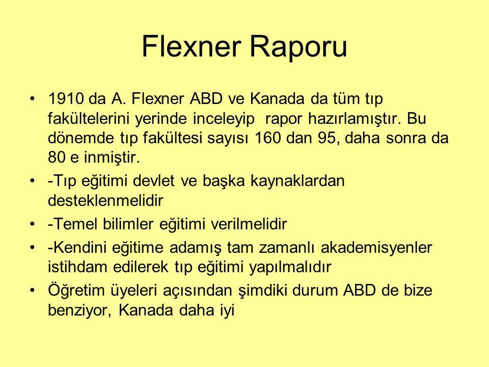 Flexner Raporu 1910 da A.