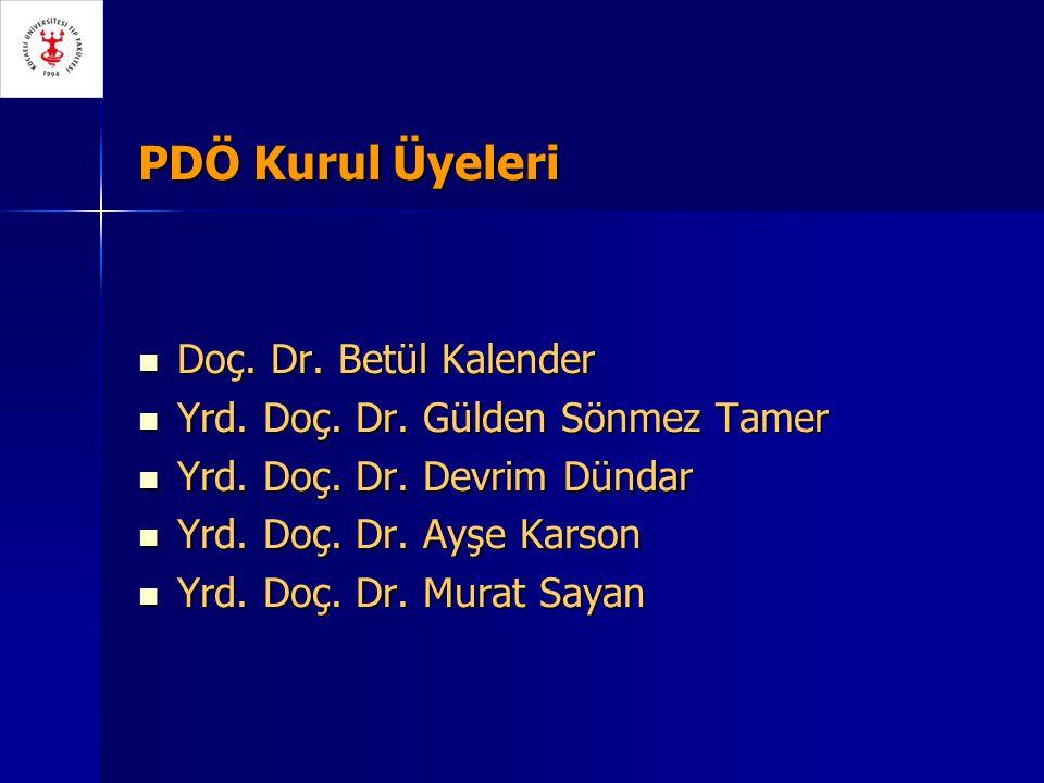 PDÖ Kurul Üyeleri Doç.Dr. Betül Kalender Doç. Dr.