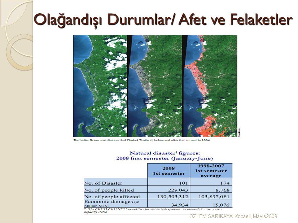Ola ğ andışı Durumlar/ Afet ve Felaketler ÖZLEM SARIKAYA-Kocaeli, Mayıs2009