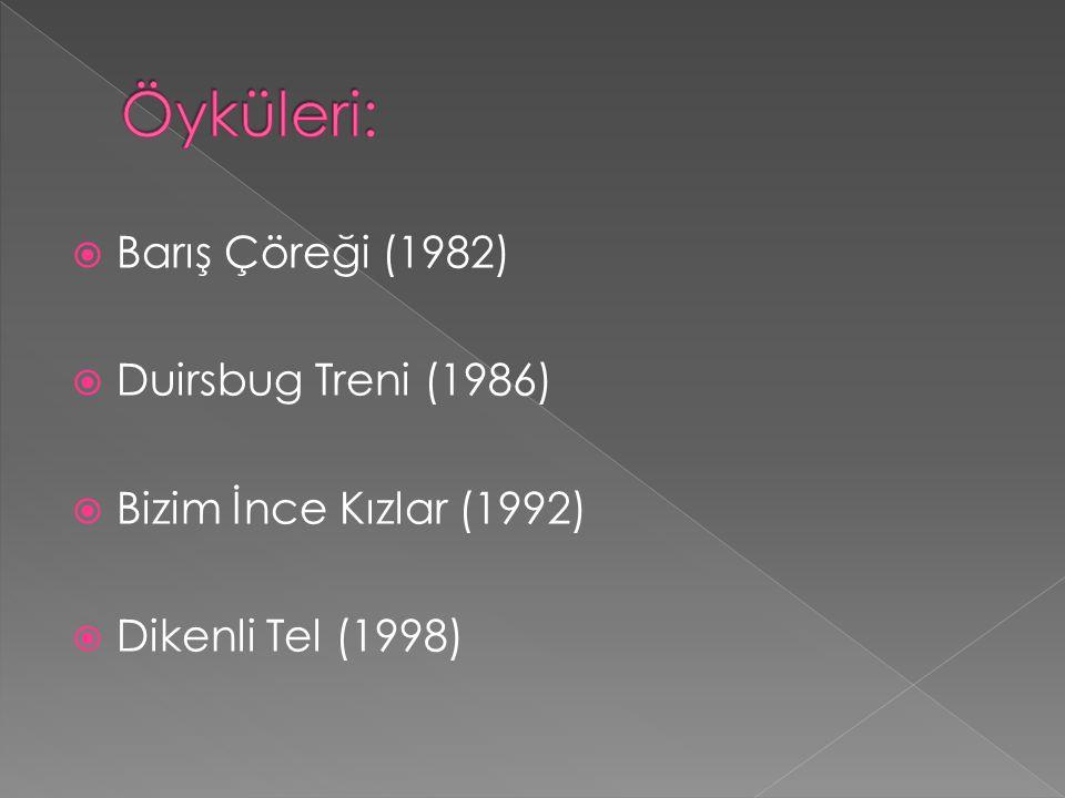  Barış Çöreği (1982)  Duirsbug Treni (1986)  Bizim İnce Kızlar (1992)  Dikenli Tel (1998)