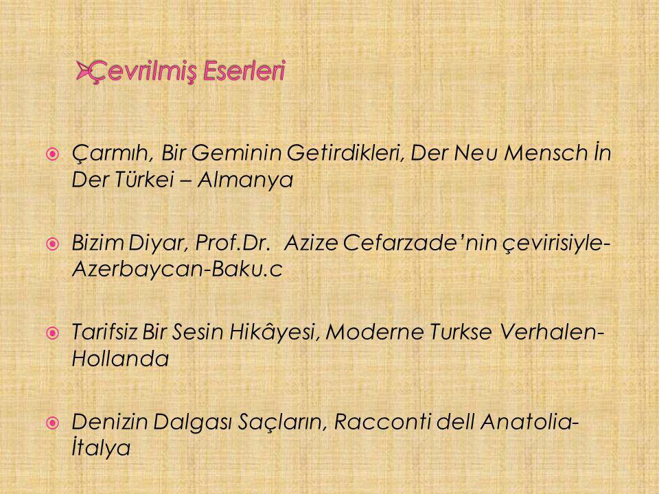  Çarmıh, Bir Geminin Getirdikleri, Der Neu Mensch İn Der Türkei – Almanya  Bizim Diyar, Prof.Dr.