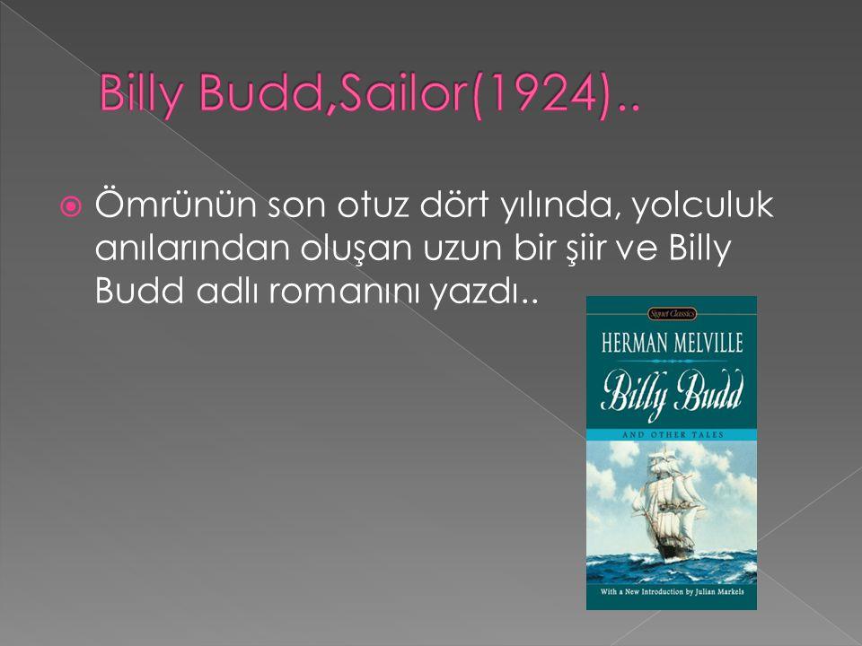  Ömrünün son otuz dört yılında, yolculuk anılarından oluşan uzun bir şiir ve Billy Budd adlı romanını yazdı..