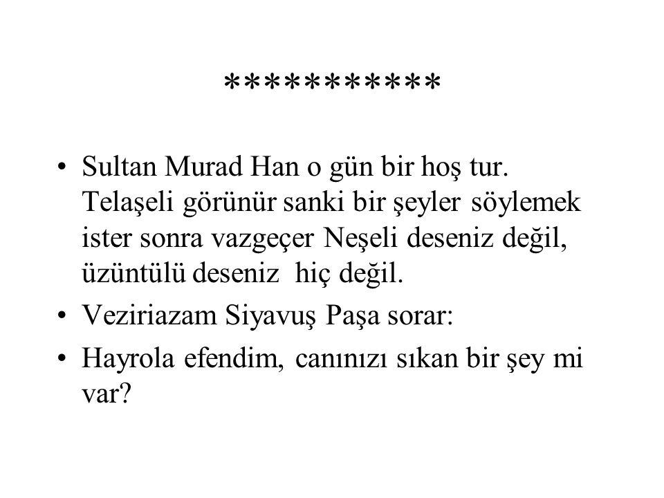 *********** Sultan Murad Han o gün bir hoş tur.