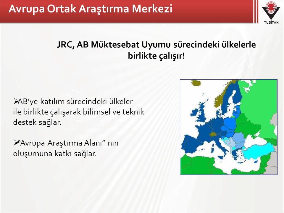 TÜBİTAK JRC, AB Müktesebat Uyumu sürecindeki ülkelerle birlikte çalışır.