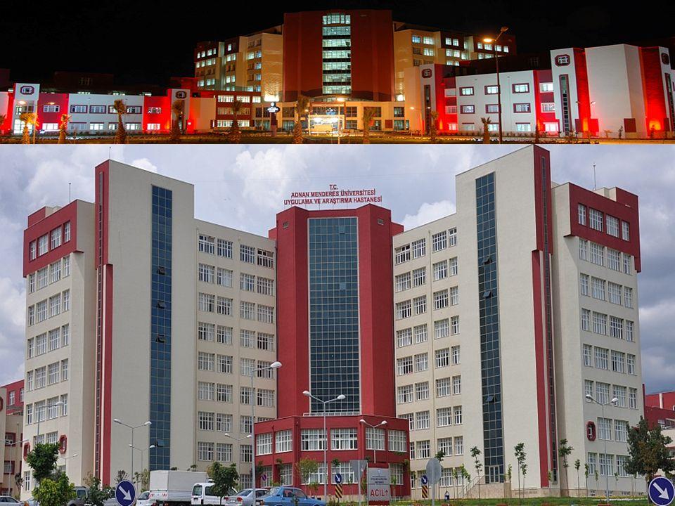Adnan Menderes Üniversitesi Uygulama ve Araştırma Hastanesi Tarihsel gelişim Şehir Hastanesi binası; 1993 - 2010 -238 yatak kapasitesi, 25 yoğun bakım yatağı, 5 ameliyat salonu Yeni bina: 15 Şubat 2010-….