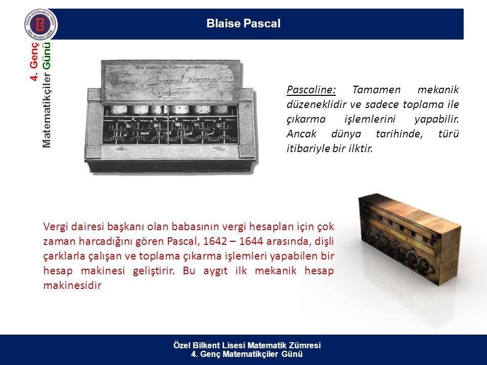 Özel Bilkent Lisesi Matematik Zümresi 4.Genç Matematikçiler Günü Blaise Pascal 4.