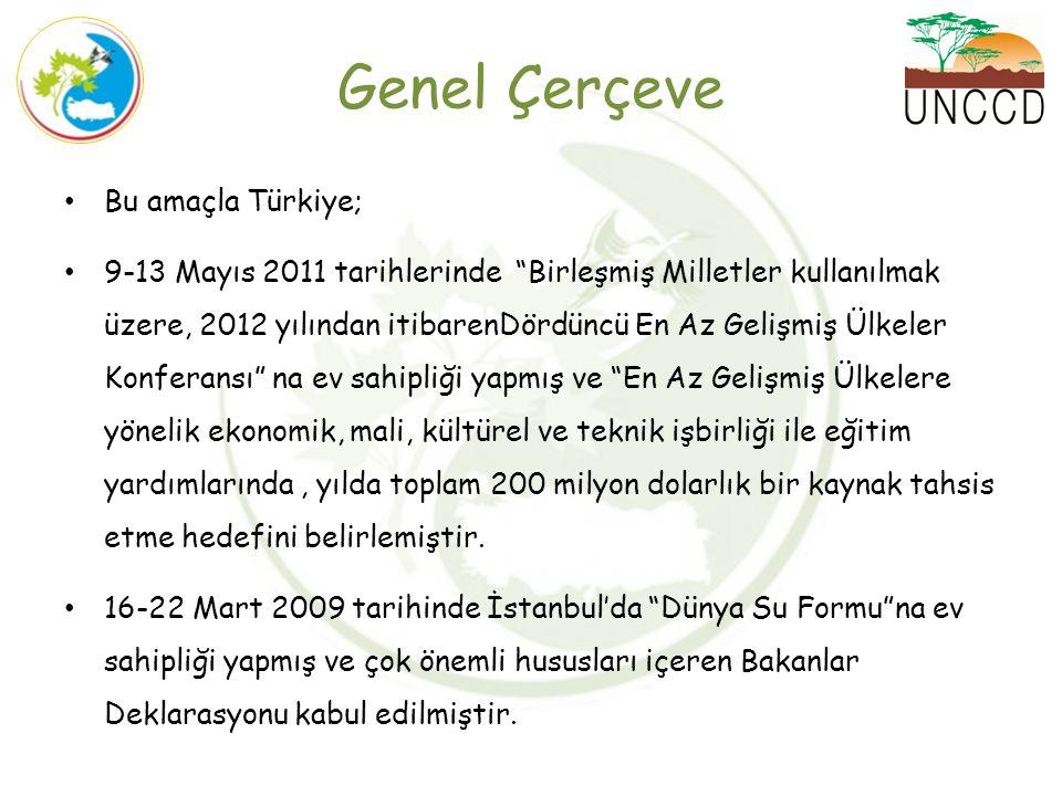"""Bu amaçla Türkiye; 9-13 Mayıs 2011 tarihlerinde """"Birleşmiş Milletler kullanılmak üzere, 2012 yılından itibarenDördüncü En Az Gelişmiş Ülkeler Konferan"""