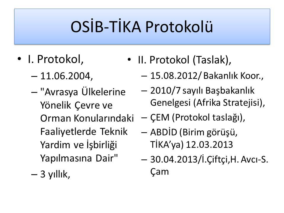 OSİB-TİKA Protokolü I. Protokol, – 11.06.2004, –